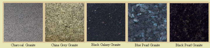 Granite colours for 20 mm and 30mm thick signs